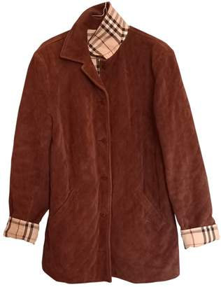 Burberry \N Brown Velvet Leather jackets