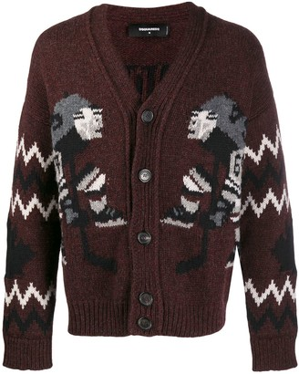 DSQUARED2 Panelled Knit Cardigan
