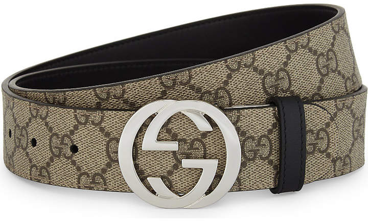 Gucci Reversible GG Supreme buckle belt