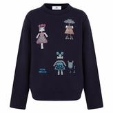 Versace Crystallised Navy Sweatshirt