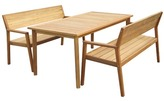 3 Piece Ibiza Outdoor Dining Table & Bench Set