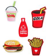 Topman Fast Food Iron On Badges*