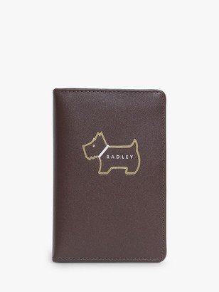 Radley Heritage Dog Outlined Leather Zip Purse