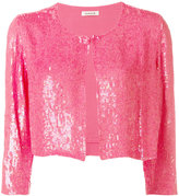 P.A.R.O.S.H. cropped sequin cardigan - women - Viscose/PVC - S