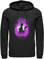 Disney Men's Sleeping Beauty Maleficent Purple Hue Silhouette Hoodie