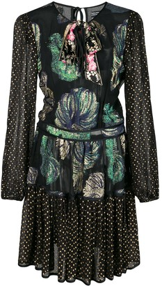 Cynthia Rowley Inverness Fish Bell Sleeve Dress