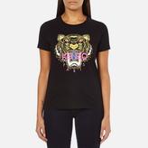 Kenzo Women's Tiger Embroidered TShirt - Black