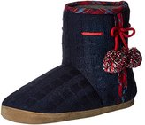 Isotoner Women's Samantha Cable Knit Boot Slipper