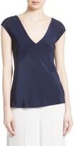 Diane von Furstenberg Women's V-Neck Silk Blouse