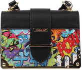 Nicole Lee Women's Street Style Graffiti Print Mini Box Cross Bag