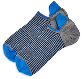 Marcoliani Milano Invis Touch Striped No-Show Socks