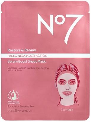 No7 Restore & Renew Face & Neck Multi Serum Mask