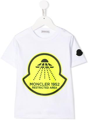 Moncler Enfant Restricted Area-print T-shirt