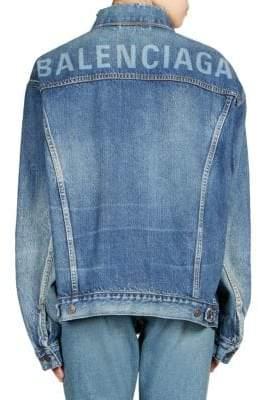 Balenciaga Like a Man Oversized Denim Jacket