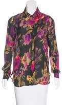 Haute Hippie Silk Floral Top