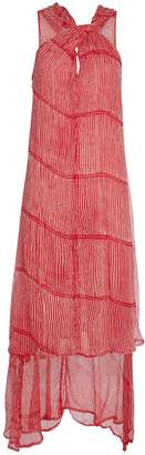 Cloe Cassandro Ruby Layered Silk Striped Dress