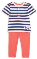 Petit Lem Baby's Striped Top & Pants Set