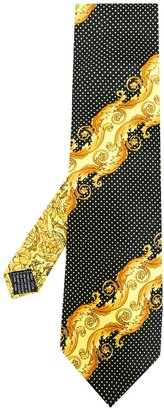 Versace Pre Owned Baroque Printed Dotted Tie