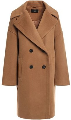 Line Double-breasted Brushed Wool Coat