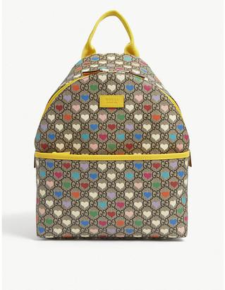 Gucci Kids hearts logo-print canvas backpack