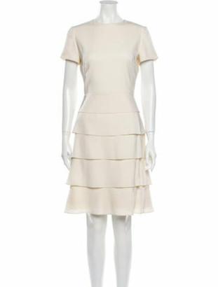 Valentino Crew Neck Knee-Length Dress White