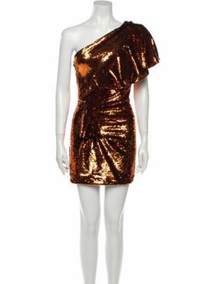 Alexandre Vauthier One-Shoulder Mini Dress Orange