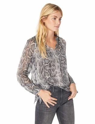 Rebecca Taylor Women's Long Sleeve Snake Clip Top