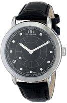 88 Rue du Rhone Men's 87WA120026 Analog Display Swiss Quartz Black Watch