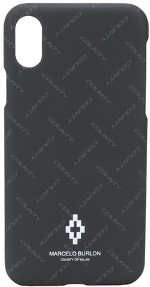 Marcelo Burlon County of Milan logo print iPhone XS case