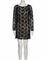 Thumbnail for your product : Blumarine Bateau Neckline Mini Dress Black