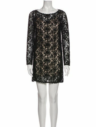 Blumarine Bateau Neckline Mini Dress Black