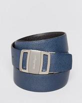 Salvatore Ferragamo Pebbled Leather Sardegna Buckle Belt
