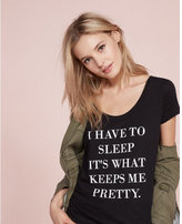 Express one eleven pretty sleep graphic tee