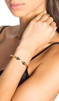 Vita Fede Mini Titan Stone Crystal Line Bracelet in Metallic Gold. - size M (also in S)