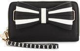 Betsey Johnson 1 2 3 Oversized Wallet, Black