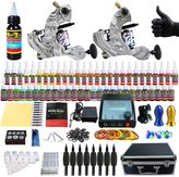 Solong Tattoo® Complete Tattoo Kit 2 Pro Machine Guns 54 Inks Power Supply Foot Pedal Needles Grips Tips Carry Case TK259