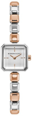 BCBGMAXAZRIA Classic Two-Tone Stainless Steel Bracelet Watch