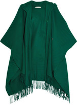 Balenciaga Hooded Wool And Cashmere-blend Poncho - Green