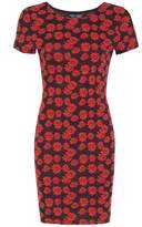 Select Fashion Fashion Womens Orange Daisy Jacquard Mini Bdycon Drs - size 6