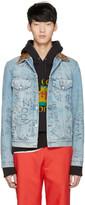 Gucci Blue Denim Writing Jacket