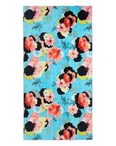 Fashion World Turquoise Floral Beach Towel