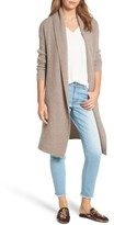 Halogen Women's Long Ribbed Cashmere Cardigan