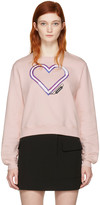 Carven Pink Neon Heart Pullover