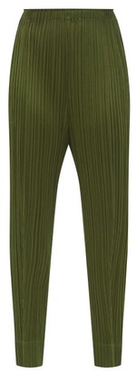 Pleats Please Issey Miyake Technical-pleated Trousers - Khaki