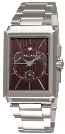 Azzaro Men's AZ2061.13HM.000 Legand Rectangular Chronograph Brown Dial Bracelet Watch