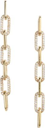 Adina's Jewels Pave Link Drop Earrings