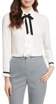 Ted Baker Women's Pleated Frill Tie Neck Shirt