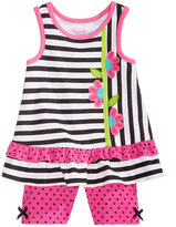Nannette 2-Pc. Striped Cotton Top & Shorts Set, Baby Girls (0-24 months)
