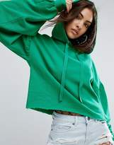Asos Hoodie With Dramatic Balloon Sleeve