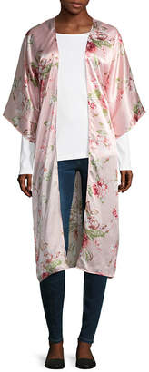 MIXIT Mixit Long Floral Womens Elbow Sleeve Kimono